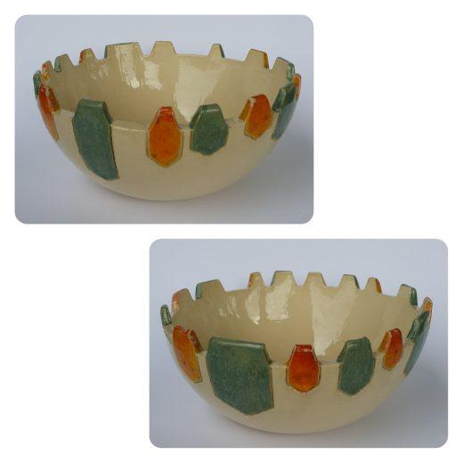 Gemstone bowl