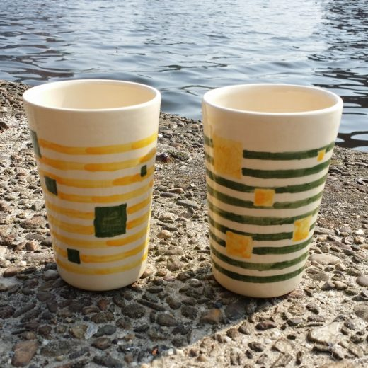 Two musical cups