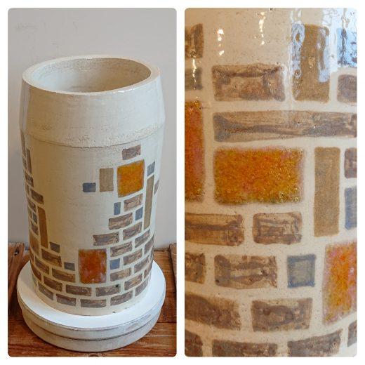 Tile & brick vase