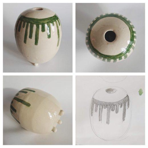 Hand size vase